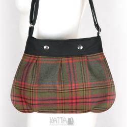 torba w kratkę,szkocka krata,mała torebka,na skos - Na ramię - Torebki