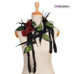 naszyjnik,zamotka,na szyję,jedwab,biżuteria - Naszyjniki - Biżuteria
