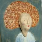 Ceramika i szkło obrazek,Lola,rudy,dekoracja,orginaly,ceramika