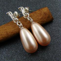 delikatne,eleganckie,romantyczne,Swarovski,perły - Kolczyki - Biżuteria