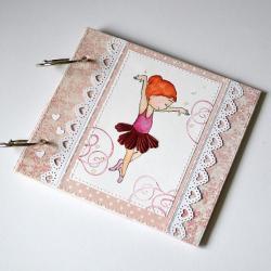 folder cd,dla dziewczynki,baletnica,serce,róż - Dla dzieci - Akcesoria