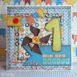 kartka,kartka urodzinowa,kartka dziecięca - Kartki okolicznościowe - Akcesoria