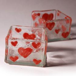 szklany świecznik oryginalny prezent design - Ceramika i szkło - Wyposażenie wnętrz
