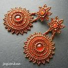 Kolczyki elegancki,unikalny,haft koralikowy,bogaty