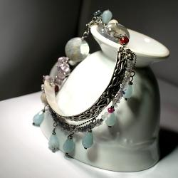 srebro,delikatne,kobiece,romantyczne,vintage,retro - Bransoletki - Biżuteria