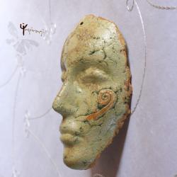 maska,ceramika,unikat,rękodzieło,na ścianę,prezent - Ceramika i szkło - Wyposażenie wnętrz