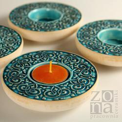 lampion,świecznik,ceramika,dekoracja stołu - Ceramika i szkło - Wyposażenie wnętrz