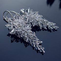 ekskluzywne kolczyki ślubne gronka Swarovski - Kolczyki - Biżuteria