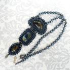 Naszyjniki haft koralikowy,bead embroidery,labradoryty