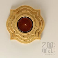 lampion,świecznik,ceramika,dekoracja stołu - Świeczniki - Wyposażenie wnętrz