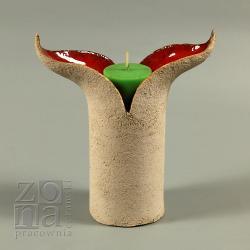 świeczniki,lampiony,ceramika,dekoracja,na stół - Świeczniki - Wyposażenie wnętrz
