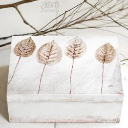 anamarko,herbatnica,pudełko,liście - Pudełka - Wyposażenie wnętrz