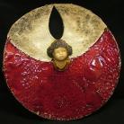 Ceramika i szkło czerwień,aniolek,gwiazdka,prezent
