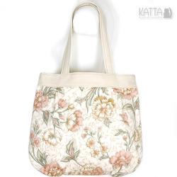 flower bag,kwiatowa,jasna,na lato,bawełniana - Na ramię - Torebki