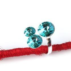 okazały pierścień z kryształami Swarovski - Pierścionki - Biżuteria