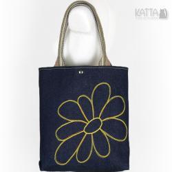 denim,wesoła torba,do szkoły,na zakupy - Na ramię - Torebki